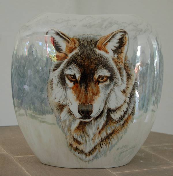 Wolf Portrait in Luster